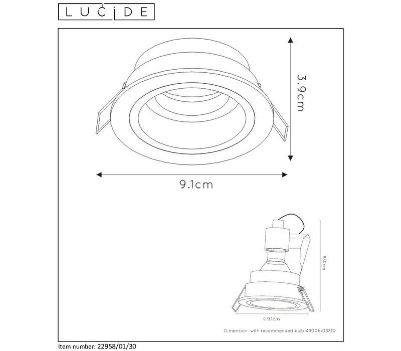 EMBED Inbouwspot GU10 Rond Ø9cm Zwart