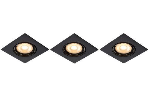 Lucide FOCUS Inbouw Vierk LED 3xGU10/5W 3000K 8/8/10.5