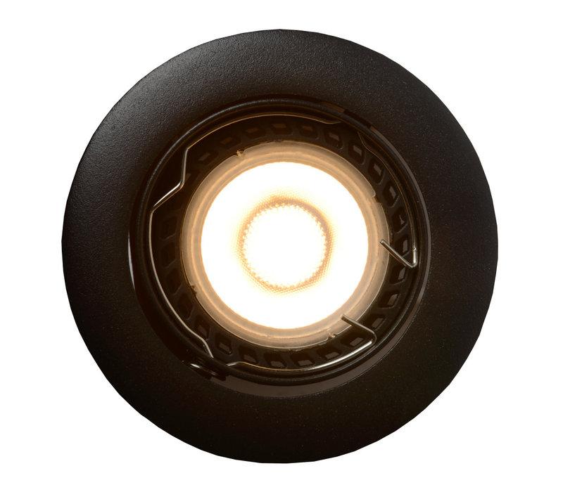 FOCUS inb Rond LED 3xGU10/5W dimb 3000K Ø8,1cm Zwa