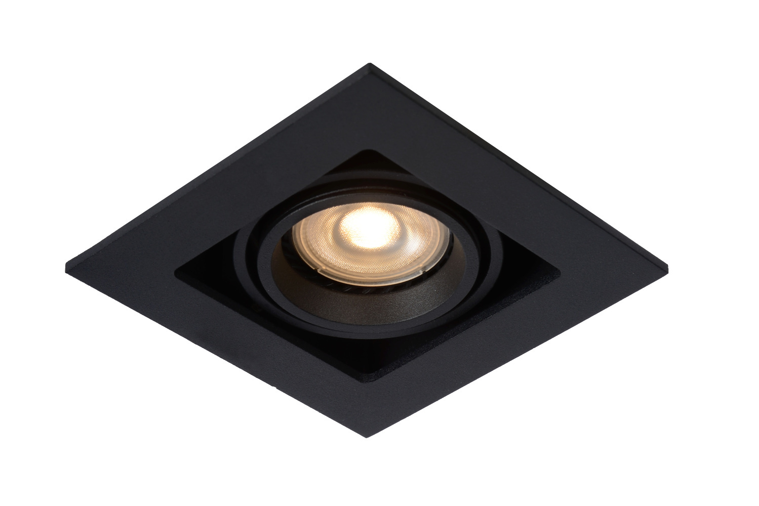 Lucide CHIMNEY Inbouwspot GU10 50W Vierkant Zwart
