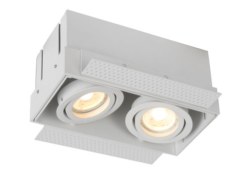 Lucide TRIMLESS Inbouwspot-Wit-2xGU10-50W-Alumin.
