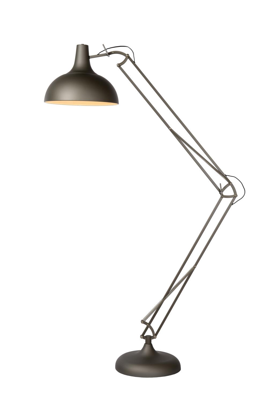 Lucide Watsie Vloerlamp E27 Kap D37 H80-218cm Mat Grijs