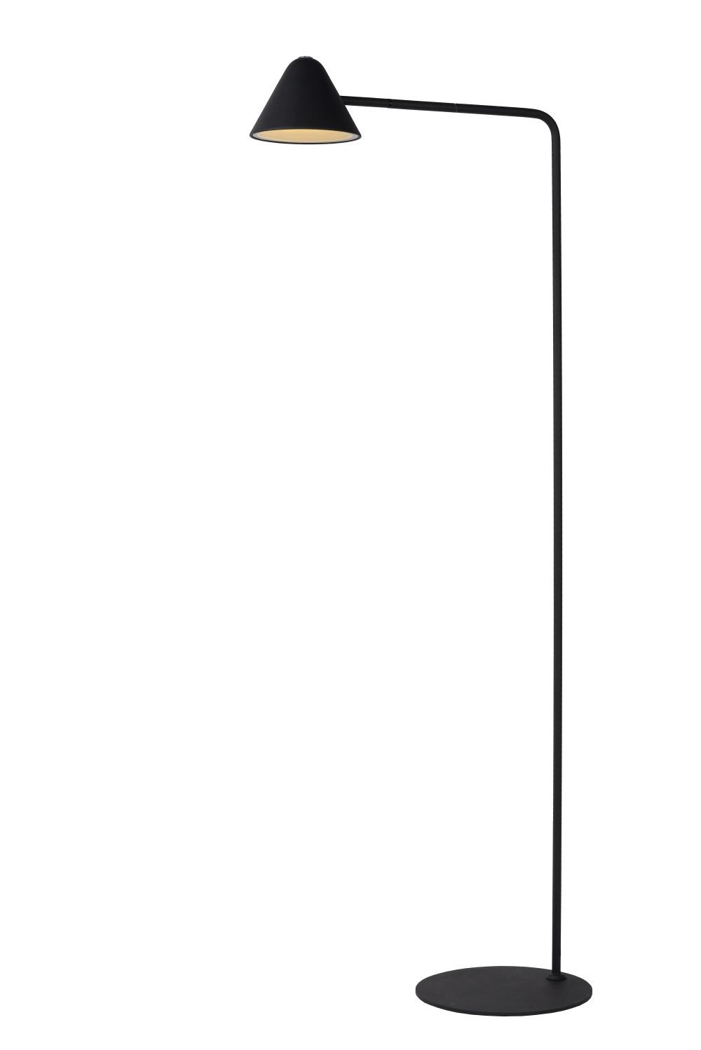 Lucide DEVON Leeslamp 3W / LED H129,5m Zwart
