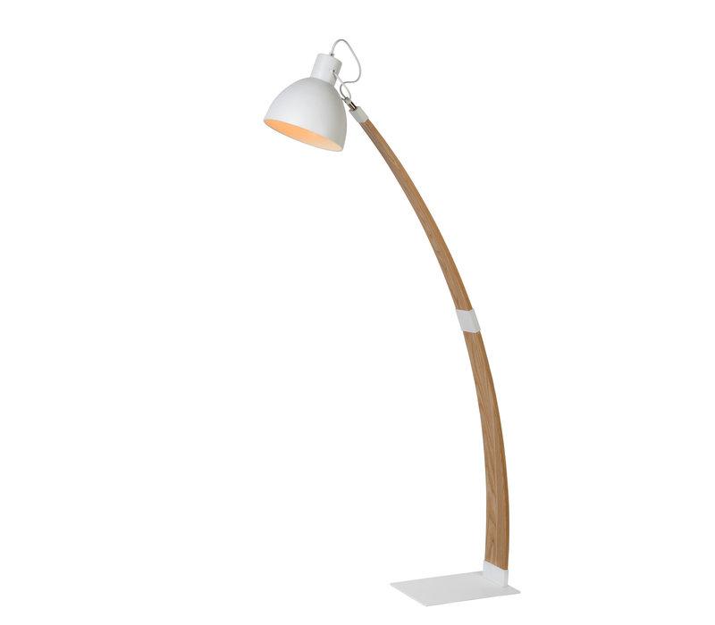 CURF Vloerlamp E27/60W Plywood-Metal Wit