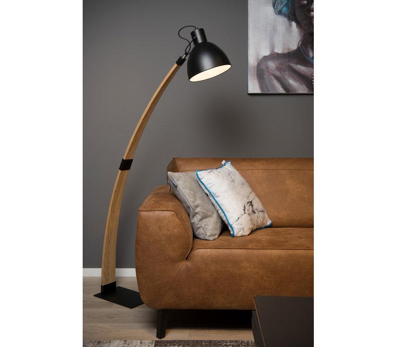 CURF Vloerlamp E27/60W Plywood-Metal Zwart