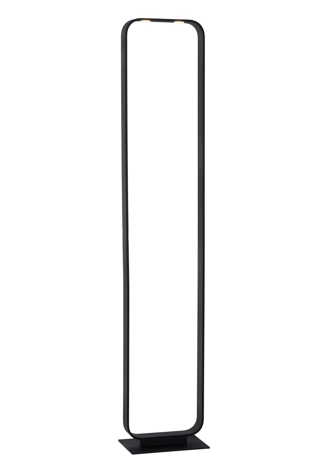 Lucide MIKA Vloerlamp-Zwart-LED Dimb.-8,5W-3000K-Staal