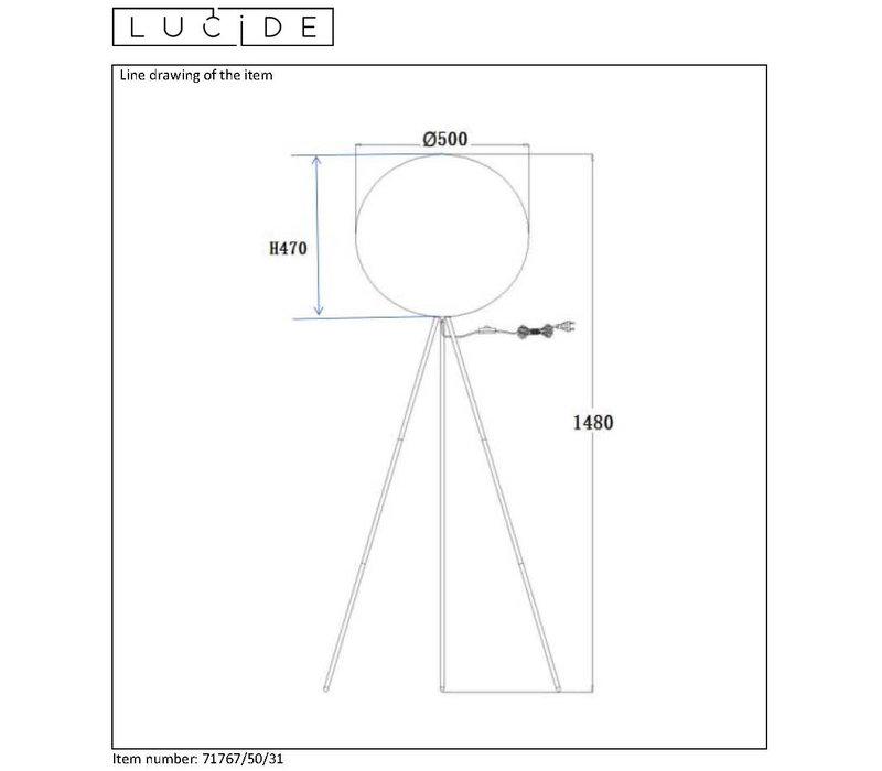 GOOSY SOFT Vloerlamp E27 Ø50cm H142cm Wit