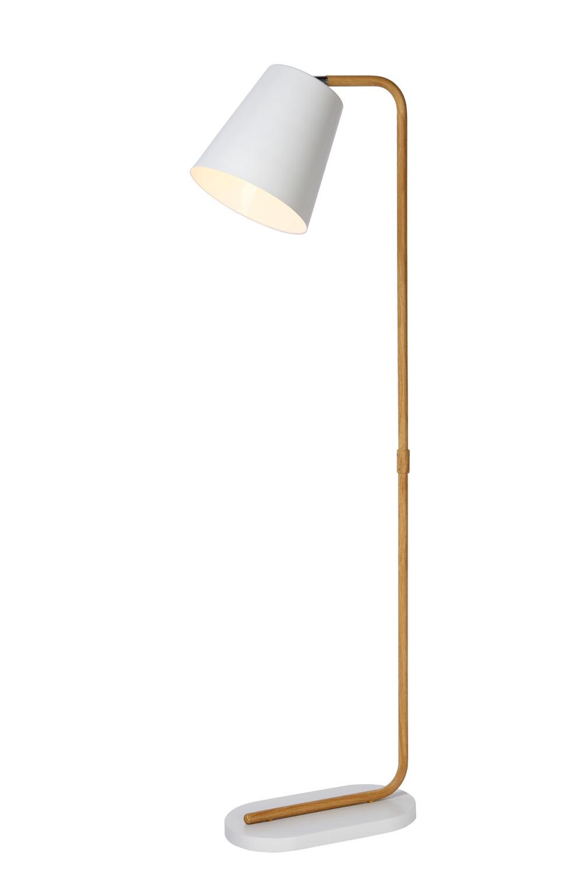 Lucide CONA Vloerlamp-Wit-1xE27-40W-Metaal