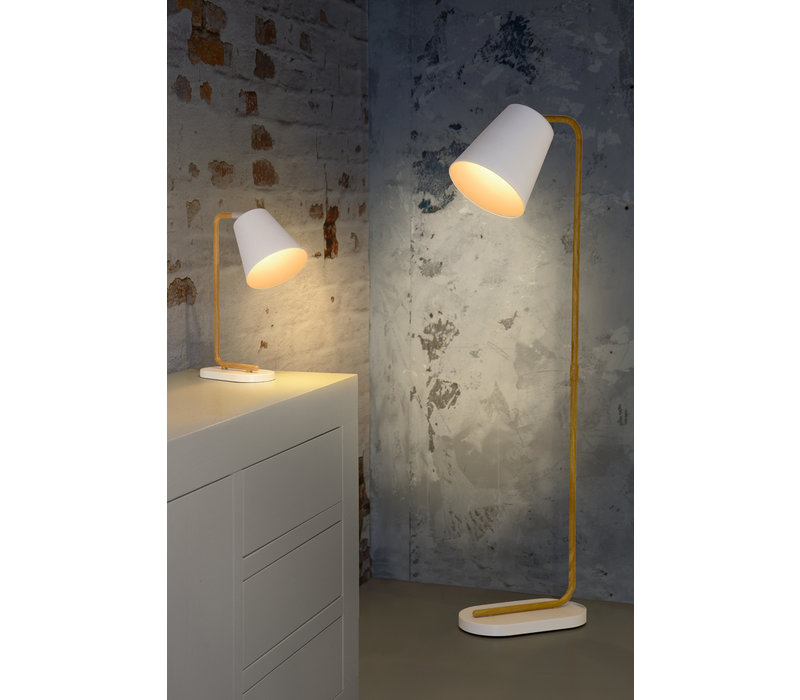 CONA Vloerlamp E27 L21 W38 H140cm Wit