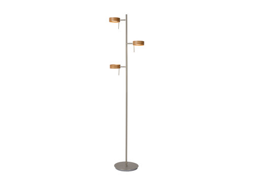 Lucide ENIA LED Vloerlamp 3x5W H152cm Hout