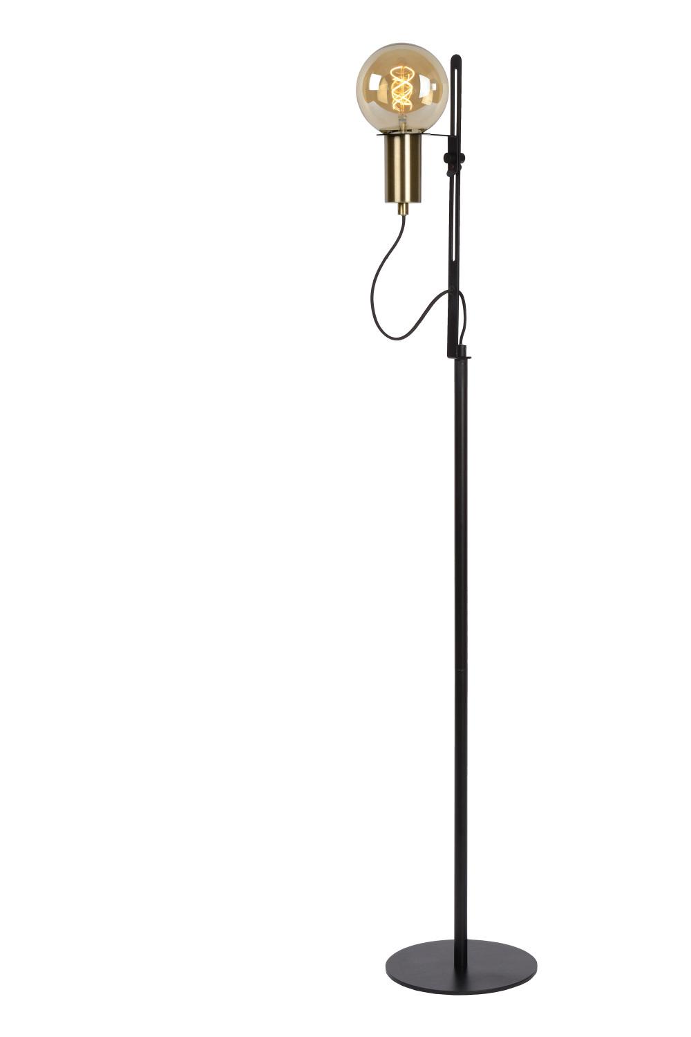 Lucide MALCOLM Vloerlamp E27/40W H140cm Zwart