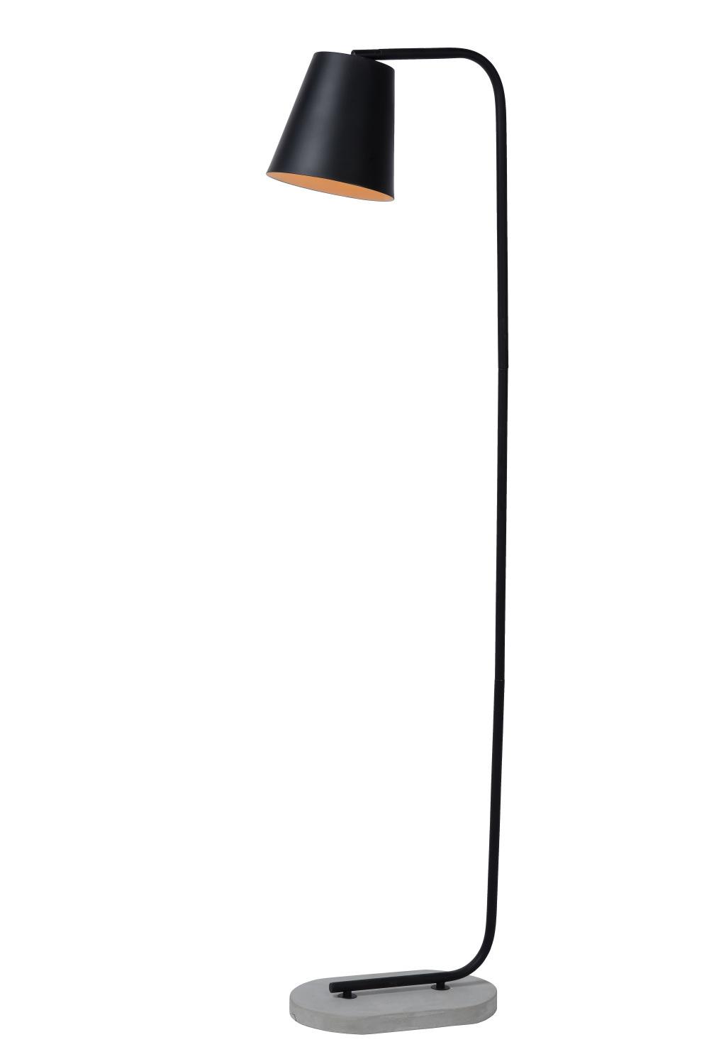 Lucide CONA Vloerlamp E27/40W H150cm Zwart