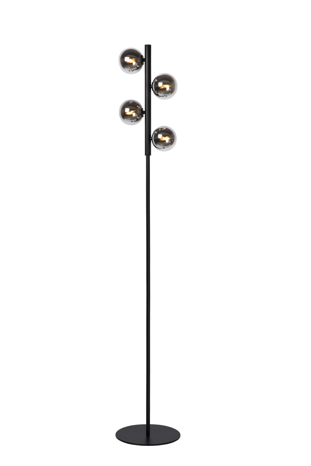 Lucide Tycho Vloerlamp 4xg9 28w Zwart