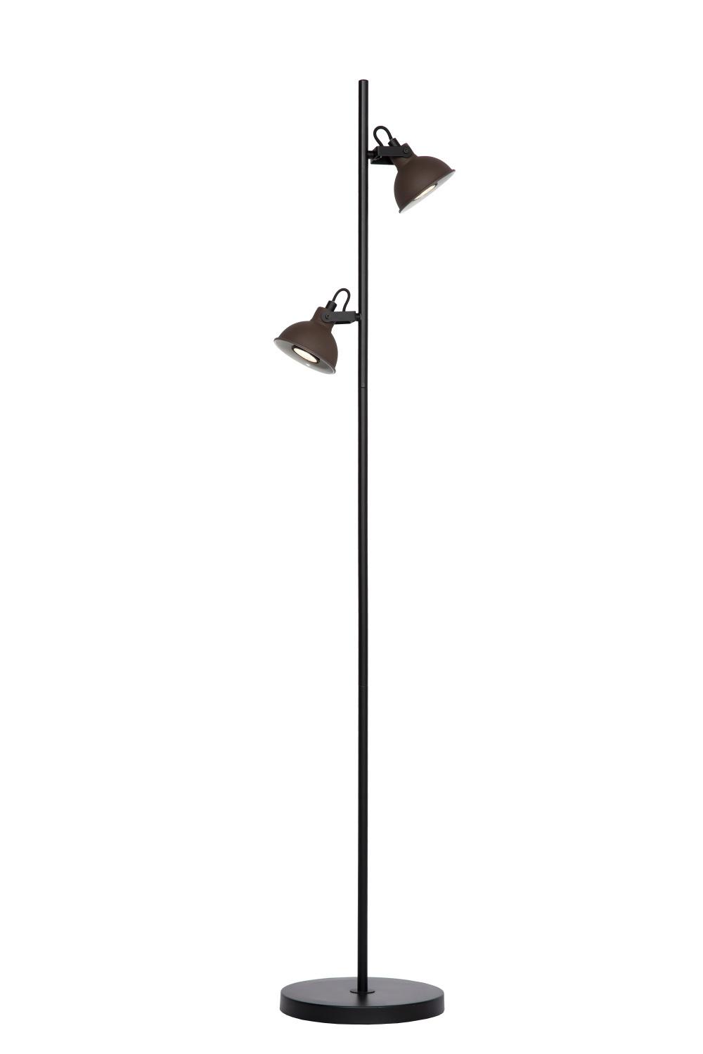 Lucide DAMIAN Vloerlamp GU10/35W H140cm Roest Zwart