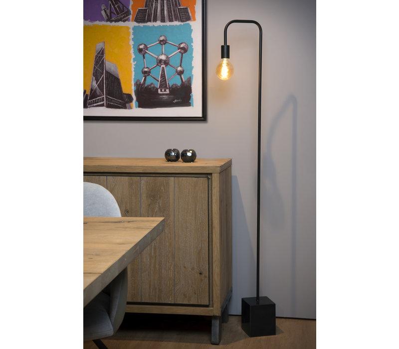 LORIN Vloerlamp E27 14/28/160cm Zwart