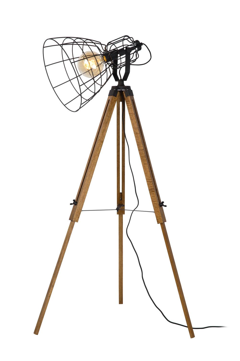 Lucide JOSHUA XL Vloerlamp E27/40W H155cm Zwart