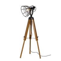 JOSHUA Vloerlamp E27 H104cm Zwart
