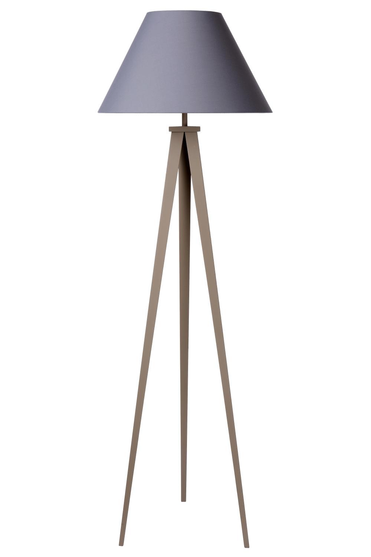 Lucide JOLLI Vloerlamp E27 D50 H153cm Taupe/Kap Grijs