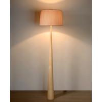 CONOS Vloerlamp E27 H177 D48cm Hout/Kap Bruin