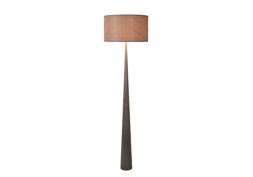 Lucide CONOS Vloerlamp E27 H177 D48cm Hout/Kap Grijs