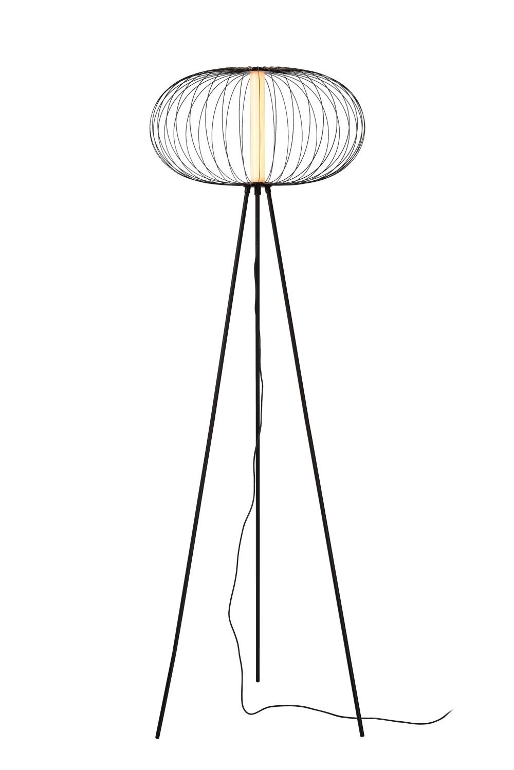 Lucide CARBONY Vloerlamp-Zwart-Ø50-LED-5W-2700K-Carbon