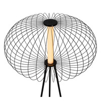 CARBONY Vloerlamp LED 5W 2700K Zwart