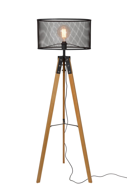 Lucide ALDGATE Vloerlamp E27 H150cm Zwart