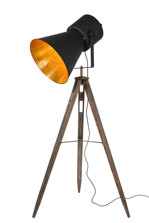 Lucide MARLOWE Vloerlamp E27 H 170cm Zwart