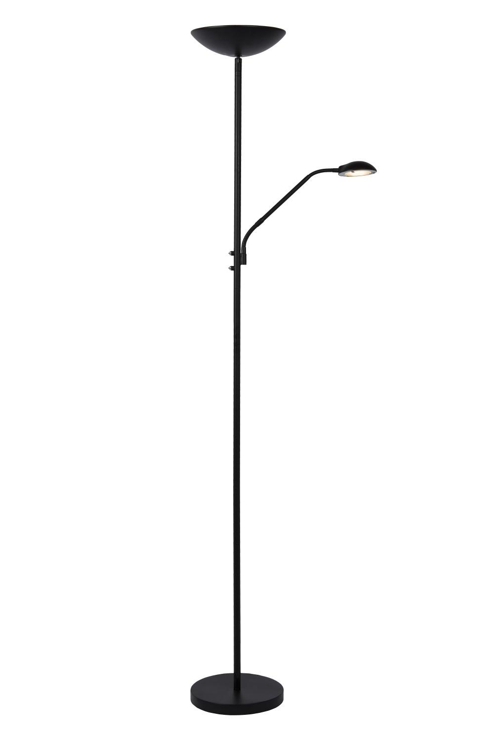 Lucide ZENITH LED Leeslamp LED 20W + 4W Zwart