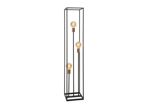 Lucide ARTHUR Vloerlamp-Zwart-3xE27-60W-Metaal
