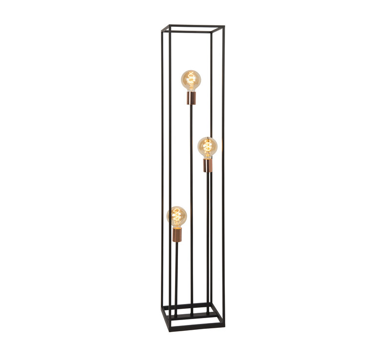 ARTHUR Vloerlamp 3xE27 40W Zwart