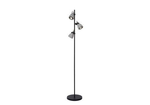Lucide CONCRI LED Vloerlamp 3xGU10/5W H160cm Zwart