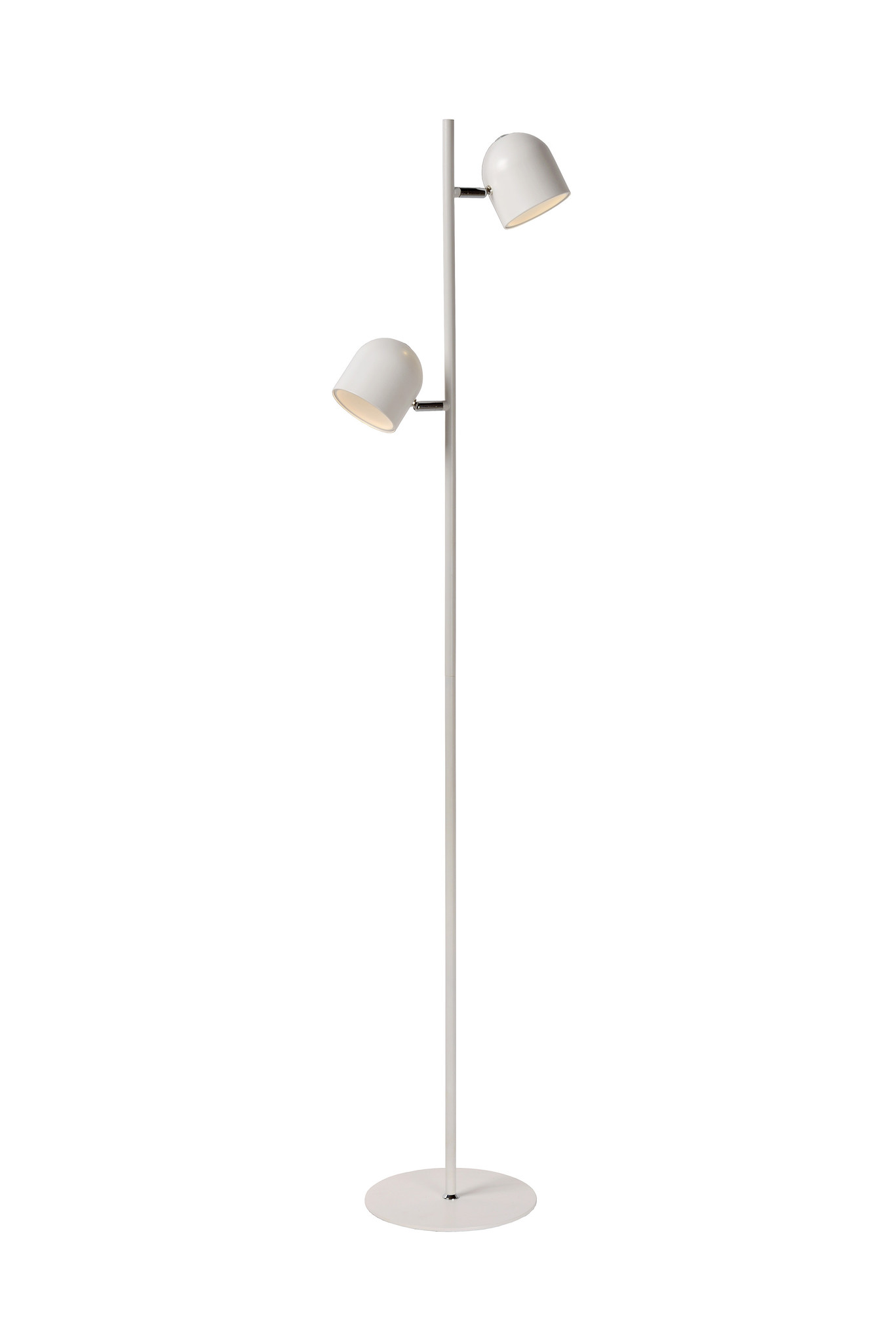 Lucide SKANSKA Vloerlamp-Wit-LED Dimb.-5W-3000K-Metaal