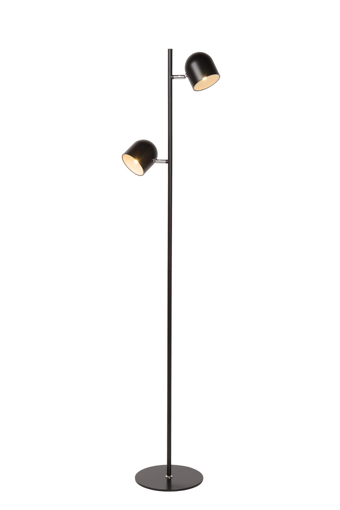 Lucide SKANSKA Vloerlamp-Zwart-LED Dimb.-5W-3000K-Metaal