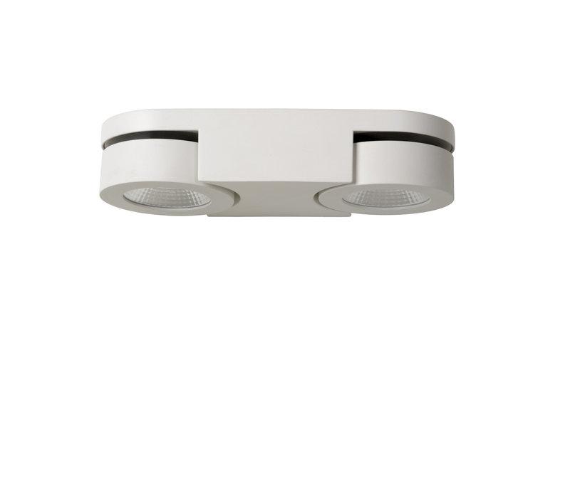 MITRAX Wandlicht LED 2x5W 3000K L26 W10 H5.6cm Wit