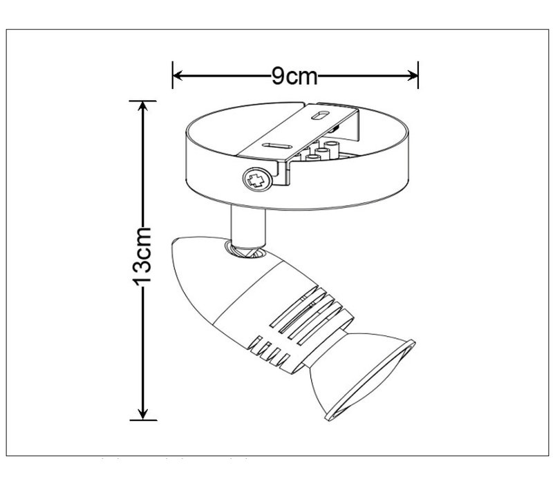 CARO-LED Wandspot   1x GU10/5W Ø8.5 H10.5 Wit