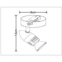 CARO-LED Wandspot 1x GU10/5W Ø8.5 H10.5 Brons