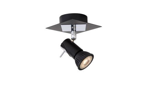 Lucide BRACKX-LED Wandspot  GU10/5W Chroom/Zwart