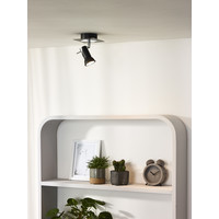 BRACKX-LED Wandspot  GU10/5W Chroom/Zwart