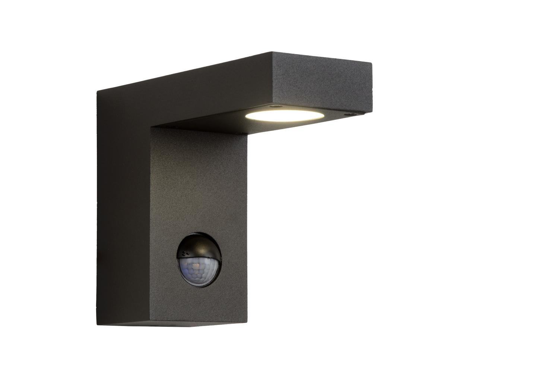 Lucide TEXAS-IR Wandspot Buiten-Antrac.-LED-8W-3000K-IP54