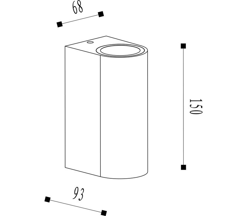BOOGY Wandlicht 2xGU10 excl. IP44 H15cm Roest