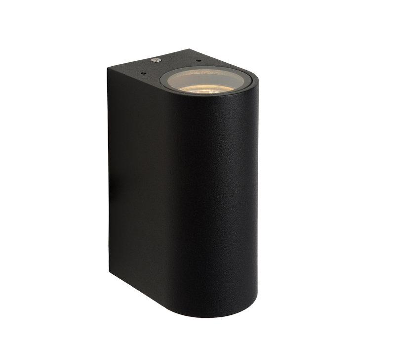 BOOGY Wandlicht 2xGU10 excl. IP44 H15cm Zwart