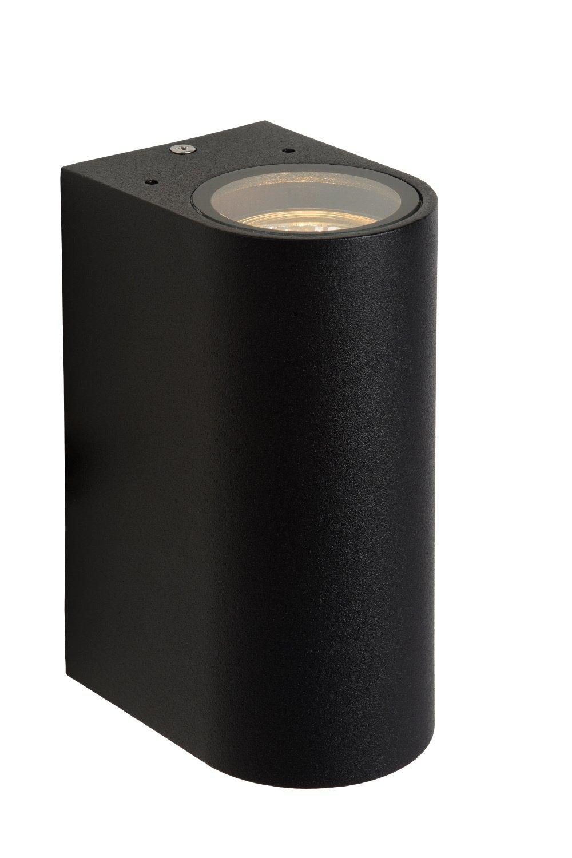 Lucide BOOGY Wandlicht 2xGU10 excl. IP44 H15cm Zwart