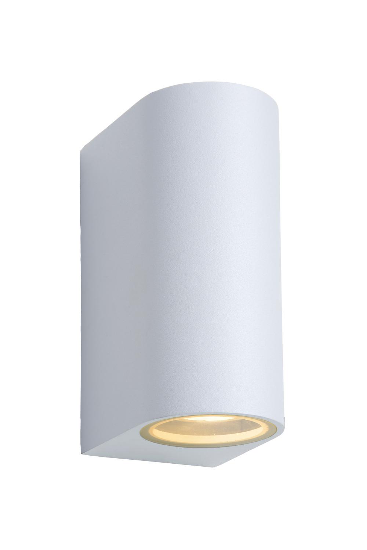 Lucide ZORA-LED Wandspot Buiten-Wit-LED Dimb.-2xGU10-5W