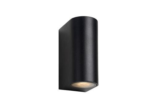 Lucide ZORA-LED Wandlicht 2xGU10/5W L9 W6.5 H15cm Zwart