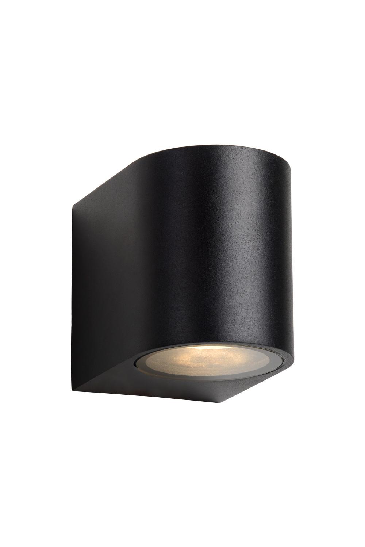 Lucide ZORA-LED Wandlicht GU10/5W L9 W6.5 H8cm Zwart