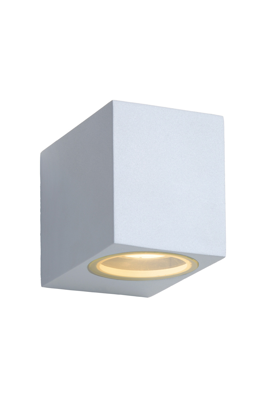 Lucide ZORA-LED Wandlicht GU10/5W L9 W6.5 H8cm Wit