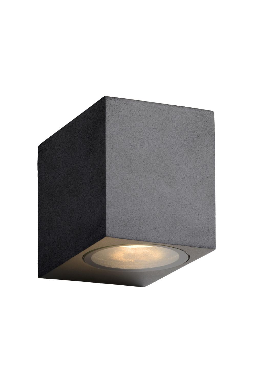 Lucide ZORA-LED Wandspot Buiten-Zwart-LED Dimb.-1xGU10-5W