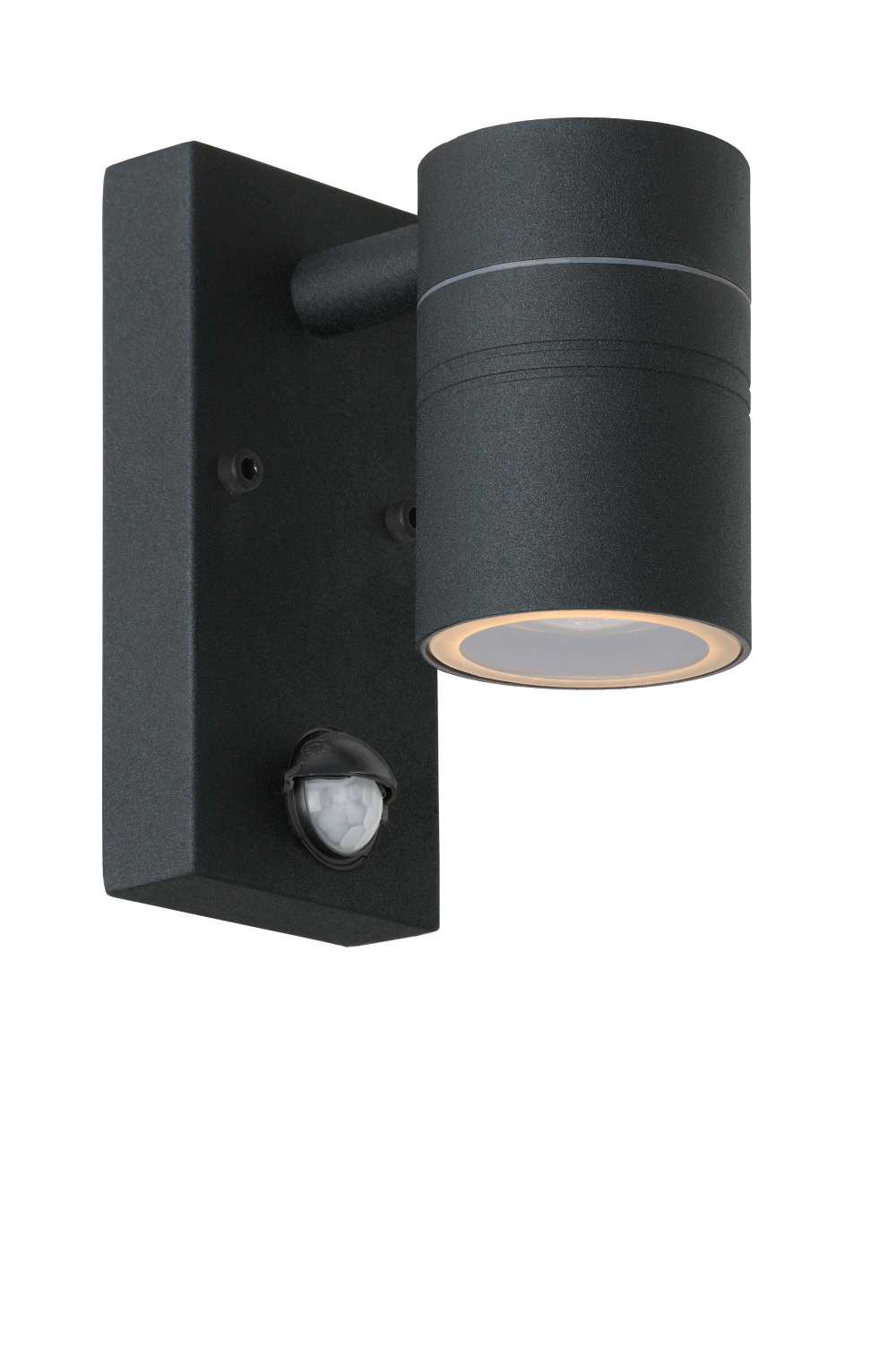Lucide ARNE-LED Wandspot Buiten-Zwart-�6,3-LED-1xGU10-5W