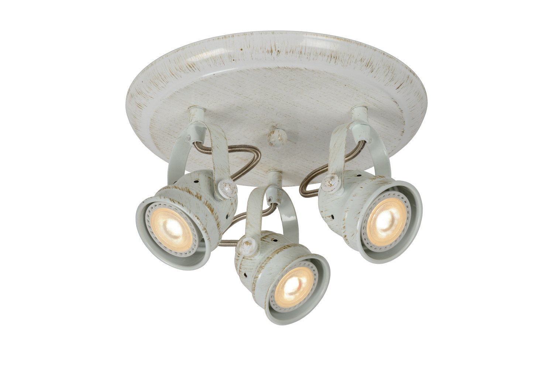 Lucide CIGAL Plafondspot-Antiek.-Ø27-LED-3xGU10-5W-2700K